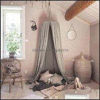 Supplies Textiles Home & Gardenliving Kids Bedding Cotton Linen Mosquito Net Curtain For Children Girl Room Comfort Decor Drop Delivery 2021