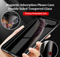 Cell Phone Cases Privacy Magnetic Case Galaxy S20 S10 S8 S9 Antipeeping Double Tempered Glass Metal Bumper For Samsung 10 Plus Note 9 6Lynu