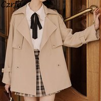 Women's Trench Coats Women Temperament Fashion Autumn Japanese Style Casual Clothing Ulzzang Harajuku Sweet All-match Outwear Y2k Female Chi
