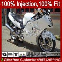 Faneros de molde de inyección para Honda Blackbird Gloss White CBR1100 CBR 1100 XX 1100XX 96-07 26NO.38 CBR1100XX 1996 1997 1998 1999 2000 2001 1100 CC 02 03 04 05 06 07 Bodys