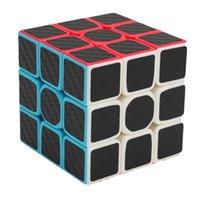 Zcube 3x3x3 Углеродное волокно Наклейка Волшебный Куб Головоломка 3x3 Скорость Кубо Magico Квадратные Головоломки Подарки Развивающие игрушки для детей L0226