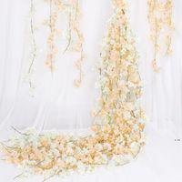 180cm Künstliche Blume Rebe Seide Kirschblüten Kunststoffrebe Für Garten Dekoration Künstliche Blume Gefälschte HWD6222