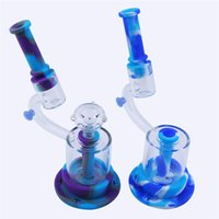 Smoking Accessories Silicone Pipe Microscope shape glass bong color optional