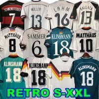 1990 1994 1988 الرجعية Littbarski Ballack Soccer Jersey Klinsmann Matthias 1998 2014 قمصان Kalkbrenner كرة القدم ألمانيا 1996 2004 Möller Bierhoff Hassler Brehme 06