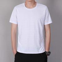 Фабрика Оптовая продажа лето новый мужской ледяной шелк с коротким рукавом футболка мужская летняя тонкая повседневная мода базовая одежда мальчики