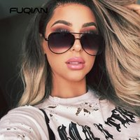Fuqian New Classic Metal Aviation Sunglasses Da Sunglasses Donne Moda Moda Modo Pilota Occhiali da sole Uomo Pendenza Lente Guida Sfumature da donna UV400
