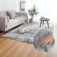 Carpets Nordic Mixed Color Carpet Simple Modern Long Suede Bedroom Bedside Living Room Environmental Memory Foam Non-slip