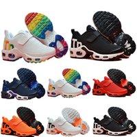 Döndü Antrasit Artı TN Çocuk Koşu Ayakkabıları Hız Kırmızı Mavi Beyaz Köpekbalığı Bebek Toddlers Çocuk Erkek Kız Sneakers Eğitmenler
