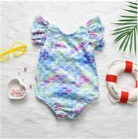 Cute Baby Summer Swimsuit One-Pieces Fish Scales Girls Bikini Swimsuits Great Quality Kids Toddlers Bathing Suits Children Casual Beach Swimwear