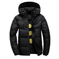 Men's's Parkas Aksr Veste d'hiver Manteau Blanc Canard Vestes avec une cagoule Thermique Thermique Thermique Holdwear Puffy Doudoune Homme
