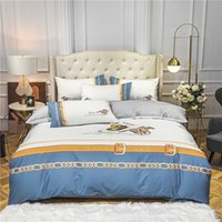 Queen Size Bedding 2021 Sets Light Blue Fashion Bed Sheet High Quality Comforter Cover Pillow Cases Boho