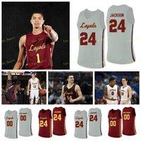 NCAA College Loyola Chicago Ramblers Basketball Jersey 30 Aher Uguak 31 Dylan Boehm 33 Franklin Agunanne 4 Bruno Skokna Custom genäht