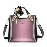 Evening Bags 2021 Fashion Retro Large Capacity Portable Tote Bag High Quality Patent Leather Cross Body Shoulder Designer Handbags Cc