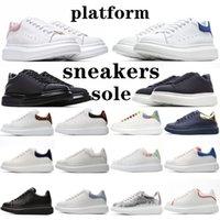 2021 디자이너 남성 여성 화이트 망 신발 alexander mcqueen mcqueens sneakers baskets mqueen Espadrilles 플랫 플랫폼 대형 신발 상자 크기와 함께 Espadrille 플랫 스니커즈 36-45