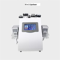 6 in 1 Lipo Laser Liposuction Vacuum RF Skin Tightening Shaping 40k Cavitation Body Slimming Device