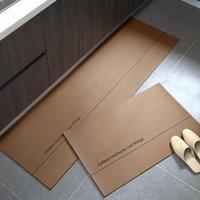 Ковры кухонные коврики водонепроницаемый маслозащитный ковер из ПВХ кожаный антицилочный ковер не скользящий лодка татами татами папара сала