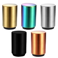 Kitchen Stainless Steel Bottle Opener Wine Beer Openers Bar Tool Magnetic Automatic Beers Jar for Home Restaurant 5 Colors HH21-246