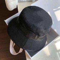 مصمم دلو قبعة قبعة قبعة كاب بخنث حافة القبعات رجل و إمرأة مزدوج حرف casquette القطن التطريز عارضة الأزياء الصياد قبعات 3 لون جودة عالية