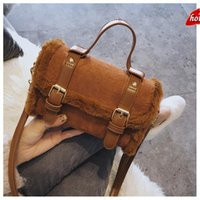 IOU genuine ladies handbags 2021 trend autumn and winter new fashion messenger small female western plush portable shoulder bag