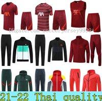 2021 2022 Mens fotbollsspel Survetement de Football Jackets Veste 21 22 Män Long Zipper Hoodie Tracksuit Training Suit Set Sportswear Chandal Tuta