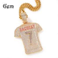 Heavy Industry Full Set Zircon No.7 Jersey Pendant Necklace, New Style Creative Men's Hip Hop Jewelry