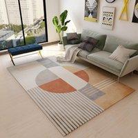 Carpets Nordic Simple Carpet Living Room Sofa Coffee Table Blanket Bedside Bed Mat Floor Bedroom Slip Rug Kids Playing Print