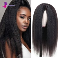 Lace Wigs Yaki Kinky Straight Front Wig Long Black Human Hair 13x4 4x4 Closure With Baby