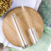 5ml cor vazio labelo tubos de brilho garrafa mini recarregável bordos recipiente de bálsamo com pincel plástico embalagem cosmética owd9952