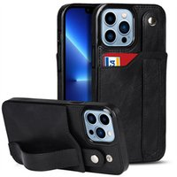 Card Holder Leather Phone cases For iPhone 13 12 11 Pro Max 6 7 8 Kickstand Protective Shockproof case