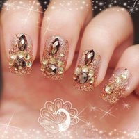 Arrivo di alta qualità 24pcs Donne Donne Unghie per le unghie finte Perline Decor Bride Quick Rimuovi unghie finte1