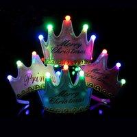 Cappello da corona luminosa con musica festival per bambini festa compleanno cappelli per la pelliccia decorazione della palla di pelliccia felice compleanno compleanni top cap