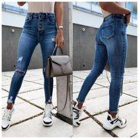 Women's Jeans Women Y2k High Waist Stretch Ripped Denim Femme Pants Shredded Trousers Slim Jeggings Spring Autumn Wear Vaqueros Mujer