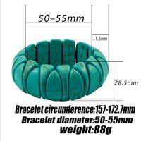 Beaded, Strands Fashion Women's Bracelet Blue Turquoises Colorful Beads Boho Beach Wrist Jewelry Female Men Gifts
