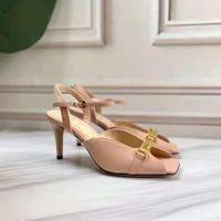Sexy Designer Luxury2021 Sandalia de verano, Hebilla Tacón de pescado, Toe cuadrado, Moda, Zapatos de gran tamaño para mujer: 35-42