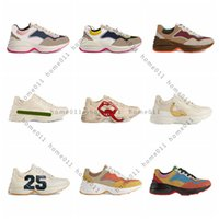 Classics Cuir Sneaker Sneaker Luxurys Designers Chaussures avec Strawberry Wave Bouche Tiger Web Print Vintage Trainer Casual Shoe HM011 PG01