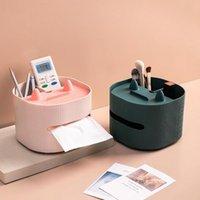 Tissue Boxes & Napkins PP Useful Makeup Brush Storage Box Lightweight Cartoon Design For Dresser