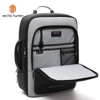 2021 NEW ARCTIC HUNTER 40L Large Capacity Mens Expandable Backpacks USB Charging Male 17 inch Laptop Bags Waterproof Business Tr