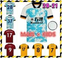 2021 Wolves Jersey Fabio Silva 20 21 Podência Coada Vitinha Raul Neves Camisa de futebol J.Moutinho Adama Men + Kids Kit