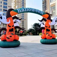 Customized Halloween Welcome Inflatable Arch Ghost Pumpkin Archway For Entrance Decoration