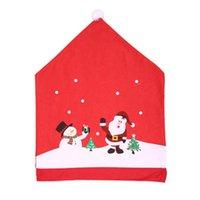 Christmas Decorations HAPPYXMAS Haobei Decoration For Chair Non-woven Santa Claus Cap Cover Hat Wholesale