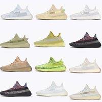 [6 Gün içinde Gönderilir] Kanye West  Adidas Yeezy Boost 350 V2 shoes Bayan Erkekler Koşu Ayakkabıları Yecher Kül Taş Kil Toprak Çöl Adaçayı Karbon Cinder Spor Sneakers 36-46