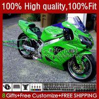 Body Injection For KAWASAKI NINJA ZX12R ZX1200C ZX 12R 1200 CC 2002-06 3No.183 ZX1200 ZX 12 R 1200CC 02 03 04 2005 2006 ZX-12R 2002 2003 2004 05 06 OEM Fairing glossy green