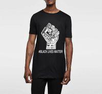 Black Lives IMPRESSION D'IMPRESSION T-shirt Coton T-shirt Drôle Tshirt Men Hip Hop Je ne peux pas respirer Streetwear Homme Tops Tees 37008