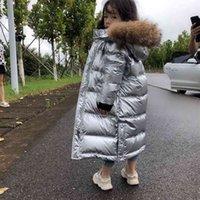 Olekid Giacca in inverno russo per ragazze impermeabile lucido cappotto caldo 5-14 anni adolescente ragazza parka snowana 210903
