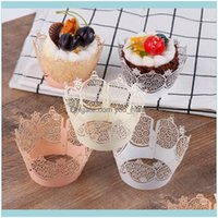 Other Festive Supplies Home & Garden50Pcs Set Crown Hollow Muffin Paper Cups Wedding Birthday Baby Shower Cake Wrapper Cupcake Tray Decor Pa