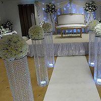 2021 Nuevo estilo de boda Aisle Crystal Pillars Soporte de boda Soporte Center Piece para fiesta de Navidad Decoración de la boda