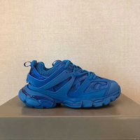 مصمم الأحذية المسار 3.0 أحذية رياضية الرجال النساء شبكة النايلون المطبوعة الأحذية المسار تنقش منصة الهواء جودة عالية عارضة الأحذية مع مربع