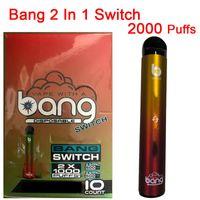 Bang Pro Max Switch Disposable Device E-Cigarettes Kits 2000 Puffs 7ml Pod Cartridges 1000mAh Battery 2 in 1 Vape Pen XXL XXtra Vapor Kit Crystal Packaging Box
