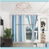 Deco EL STARTS Главная Гарденсоложная Радуга Красивый Window Занавес для гостиной 3D Синие Розовые Полиэфирные Процедуры Элегантная Спальня Драп