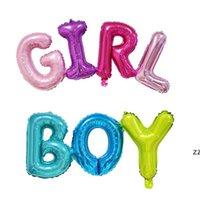 Feuille d'aluminium Ballons de ballon décor Baby Douche Anniversaire Décorations de fête Enfants Genre révéler Ballon Coloré lettres en forme HWB8696